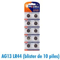 ARUMLIGHTING - Lot de 10 piles bouton AG13 LR44