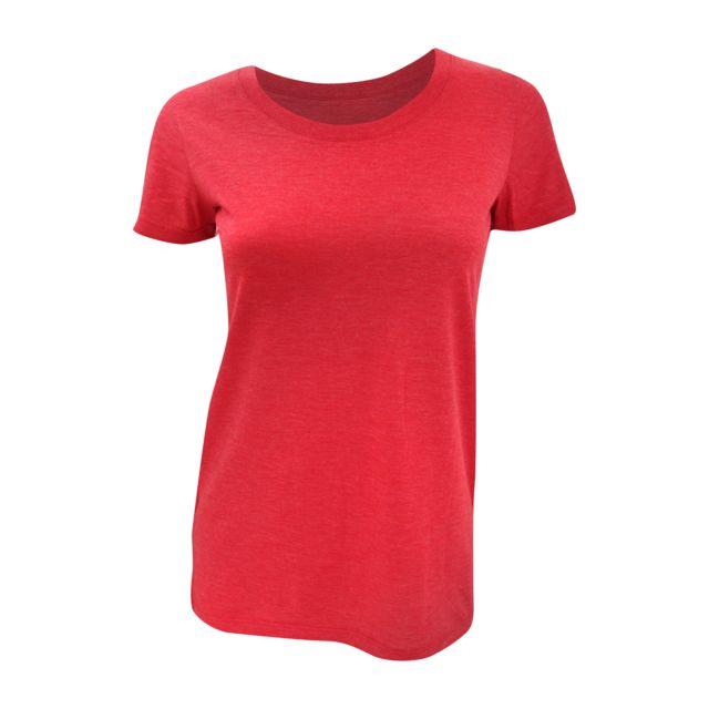 BELLA+CANVAS Bella - T-shirt à manches courtes - Femme FR 42, Rouge Utbc161