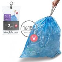 Simplehuman - Lot de 3 packs de 20 sacs poubelle 16-18 L