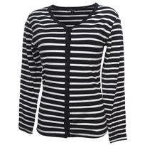 Elegance Oceane - Tee shirt manches longues Rouget tee navy marin Bleu 75658