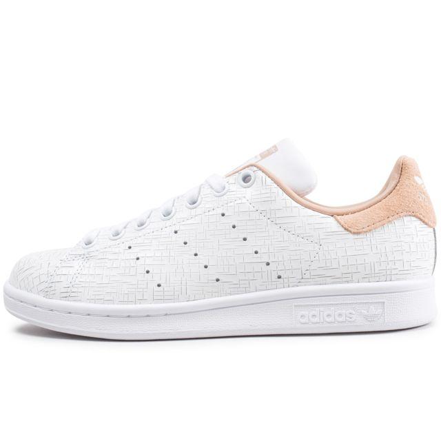 meilleur site web 3259a 3126e Adidas originals - Stan Smith Blanche Et Beige - pas cher ...