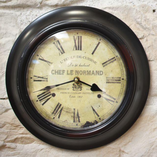 L Originale Deco Horloge Murale L Ecole De Cuisine Contour Fer O