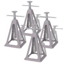 Vidaxl - Supports stabilisateurs pour caravane 4 pièces 285-430 mm Aluminium et acier