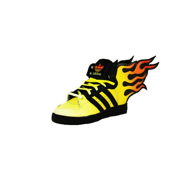 lowest price 1b6ed 22659 Adidas - Adidas Js Flammes I Chaussures Sneakers Bebe Jaune Noir Jeremy  Scott