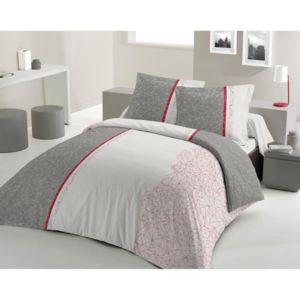 lovely home parure de couette toile 100 coton 1 housse de couette 240x260 cm 2 taies d. Black Bedroom Furniture Sets. Home Design Ideas