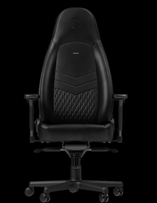 Chaise Gamer Icon Vrai Cuir Noblechairs Noir