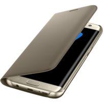Samsung - Etui à rabat pour Galaxy S7 Edge - Or