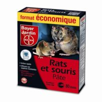 Bayer - Pâte appât rats et souris 80gr