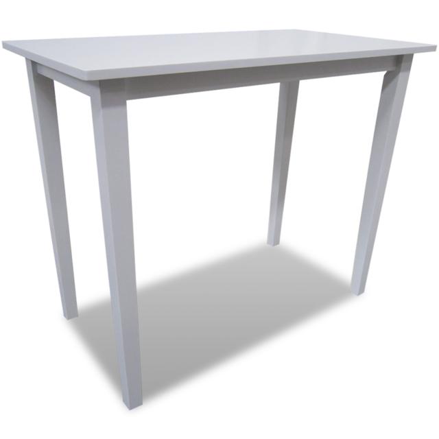 Vidaxl Table de bar blanche en bois