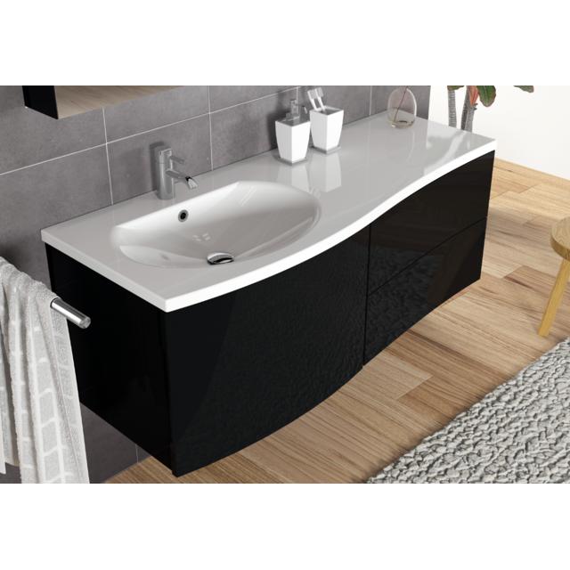 Riho Ensemble meuble & lavabo Celano Set 01 en bois laqué brillant 130x48 H 48 cm