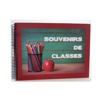 Ariane - Album photo spirale Souvenirs de classes rouge 32 pages traditionnelles