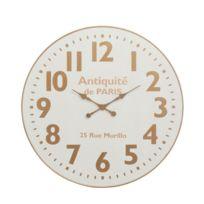 4b1c2476d3fe9 Tousmesmeubles - Horloge ronde taille M Bois naturel - Chamoi - pas ...