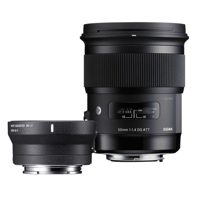Sigma Objectif 50 mm f/1.4 Dg Hsm Art Canon + Bague Mc-11 Garanti 3 ans