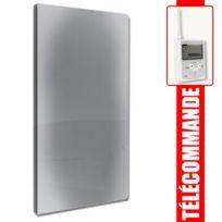 Fondis - Radiateur à inertie Solaris - Evolution Vertical gris anthracite 1000W avec boitier + télécommande