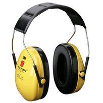 3M FRANCE - Casque antibruit 3M Peltor Optime1 - avec protection auditive visible - H510010