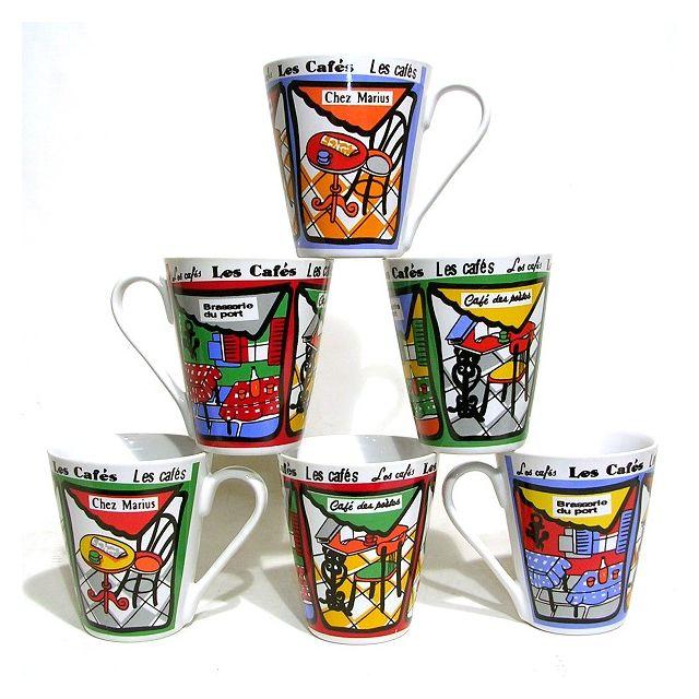 En Décors Grès B X Cafes 6 Mugs e Coniques Pas cChopes uTc13FKJ5l