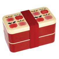 """Dotcomgiftshop - Grande Boîte Bento """"Vintage Apple"""" + Couverts"""