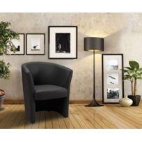 Modern Sofa - Fauteuil cabriolet Pvc noir