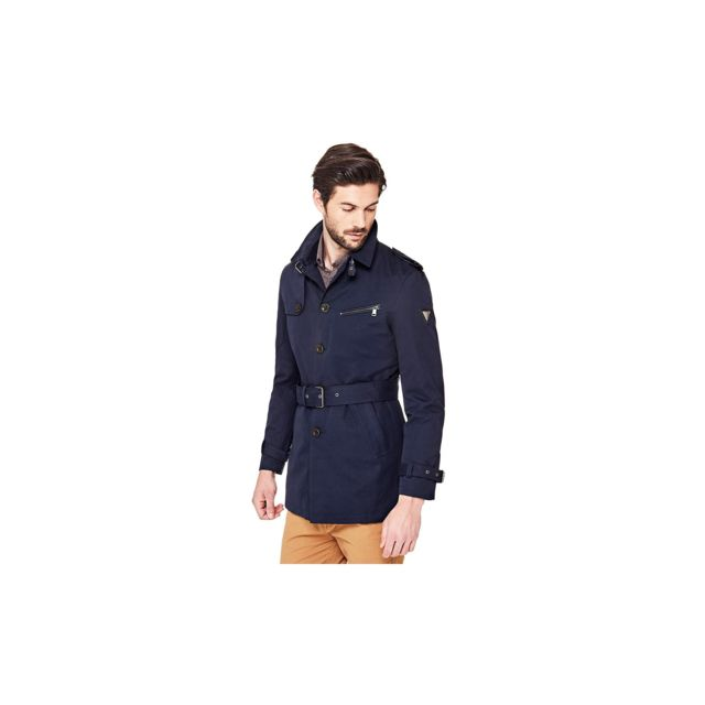 Guess - Trench Homme Technical Bleu - Taille - L - pas cher Achat ... 31f169b446ff