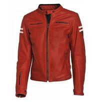 Blouson cuir rouge vintage