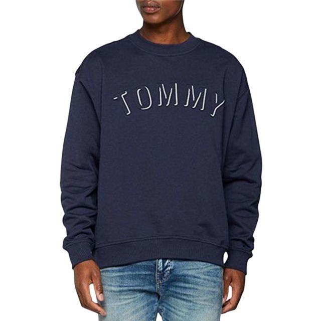 420cec2ae45 Tommy hilfiger - Sweat avec inscription Tj Outline - pas cher Achat ...