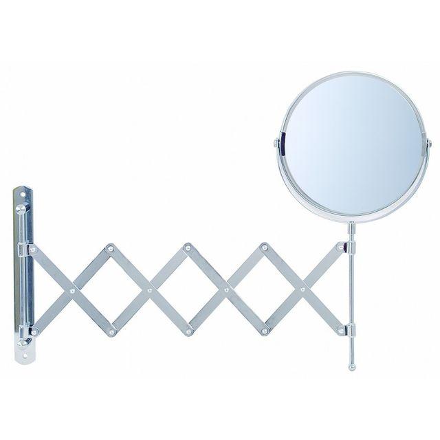 Pradel charlotte miroir mural extensible grossissant x2 chrom 100916 pas cher achat - Miroir grossissant salle de bain mural ...