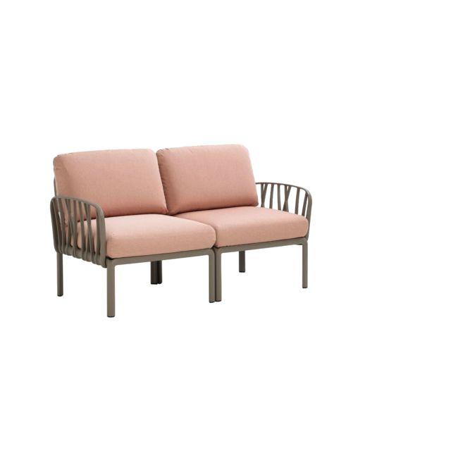 NARDI Canapé de 2 places Komodo - rose - blanc