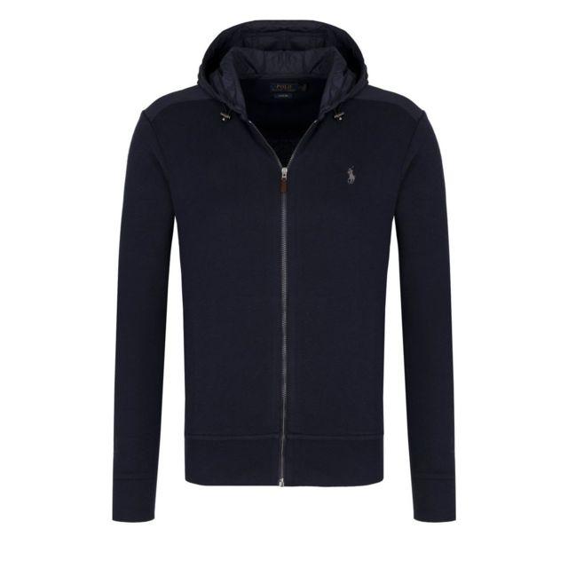 289e48bb333c Polo Ralph Lauren - Sweat bimatière Bleu Marine - pas cher Achat   Vente  Sweat homme - RueDuCommerce