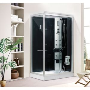 concept usine douche baln o luxe organtina rect 6 jets de massage radio cadre en aluminium. Black Bedroom Furniture Sets. Home Design Ideas