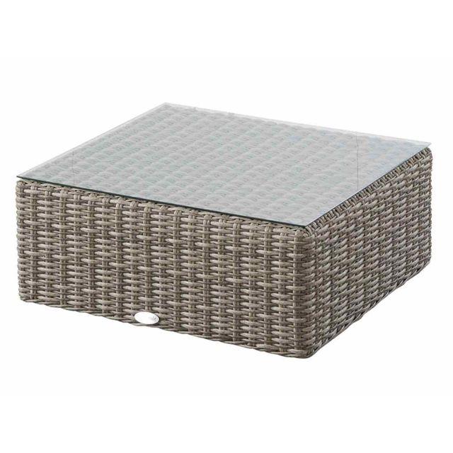HESPERIDE - Table basse carrée pour salon de jardin résine ...