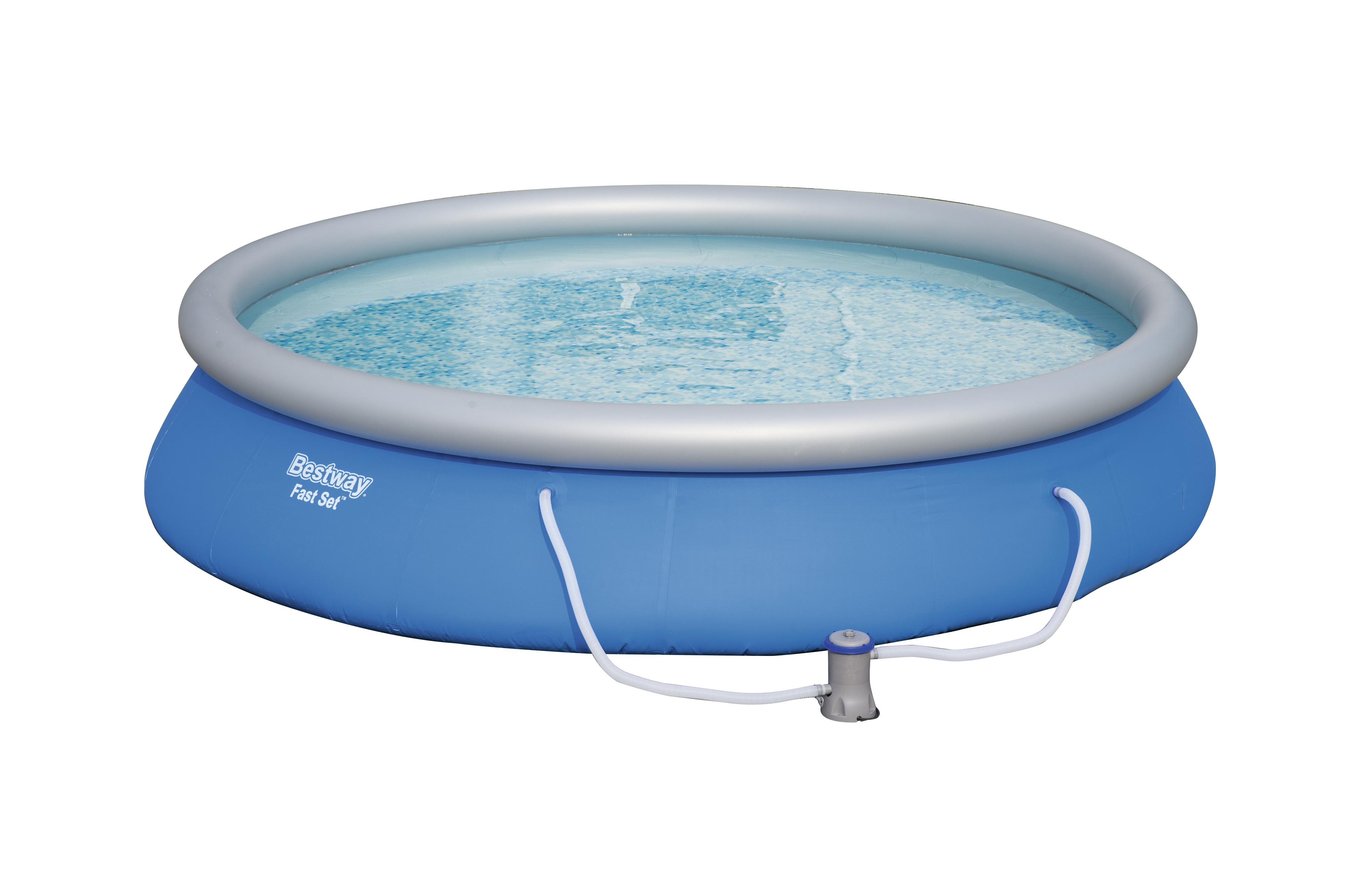 bestway kit piscine autoportante ronde fast set pools d 457 x h 84 cm pas cher achat. Black Bedroom Furniture Sets. Home Design Ideas
