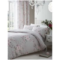 Catherine Lansfield - Housse couette +2taies Canterbury gris