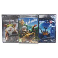 Thq - Pack 3 Jeux Disney Mission G + La Haut + Wall-E - Jeux Pc