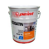 Icopeint - Peinture Satin Murale a l'eau Lessivable - Icosatin Acrylique - Ivoire clair - Ral 1015 - 3L