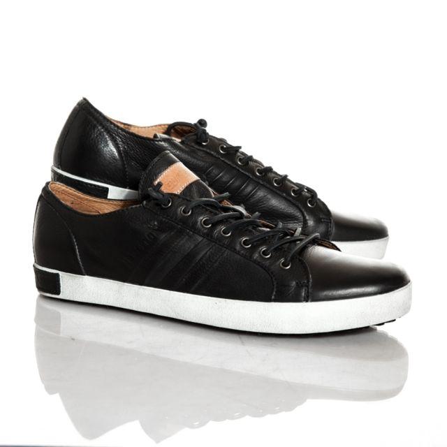 7fc2ad1ca30a60 Blackstone - Chaussures cuir noir - pas cher Achat / Vente Baskets ...