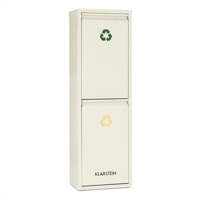 KLARSTEIN - Poubelle écologique double tri sélectif   recyclage 30 L 2 x 15  L - pas cher Achat   Vente Chambre complète - RueDuCommerce d33847603fbe