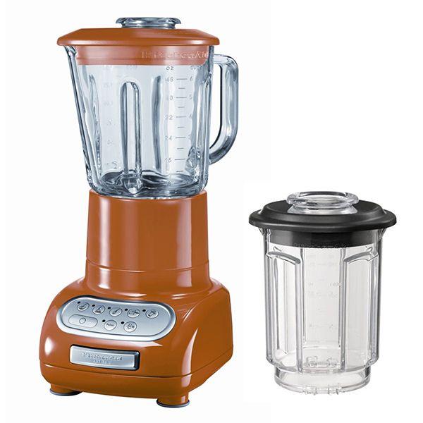KITCHENAID - blender/mixeur 1,5l 550w avec bol en verre + bol 0.75l - 5ksb5553 etg