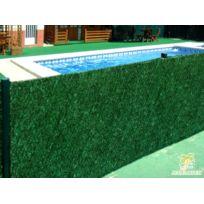 JET7GARDEN - Haie artificielle végétale 243 brins en rouleau - 6 m x 1,50 m