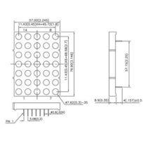 Kingbright Led & Display - Ta30-11SRWA Dot Matrix Display 76.2mm Single Color Dot Matrix Display Column Anode Super Bright Red