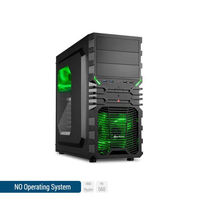 SEDATECH PC Gamer, AMD Ryzen 5, RX 560, 250 Go SSD, 1 To HDD, 8Go RAM, sans OS. Ref: UCM6072I2