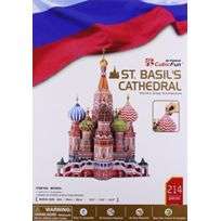 Cubic Fun - St Basil'S Cathedral 3D Puzzle W/BOOK