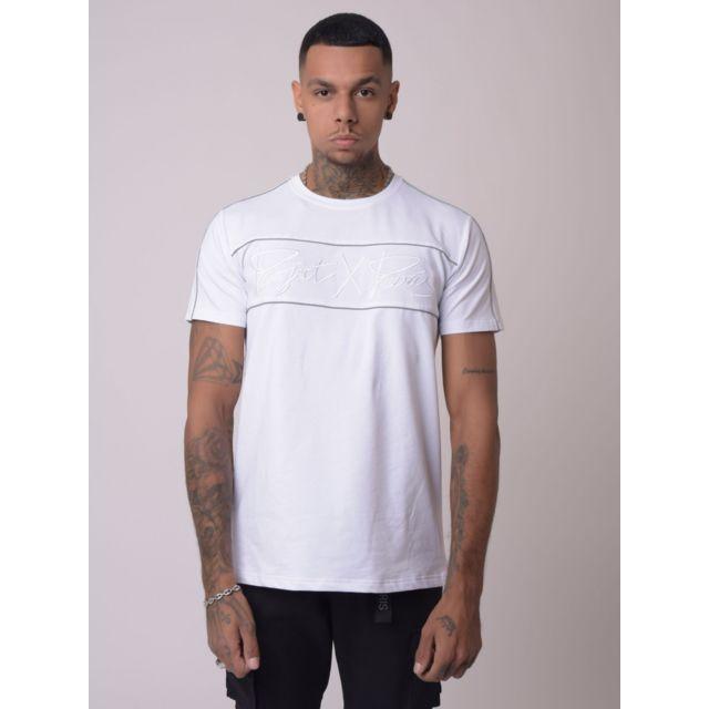 PROJECT X Tee-Shirt piping reflect