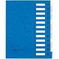 Emey - Clip Junior - Trieur - 12 compartiments - 24x32 cm - Bleu