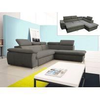 canape droit convertible achat canape droit convertible pas cher rue du commerce. Black Bedroom Furniture Sets. Home Design Ideas