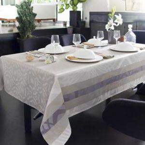 nydel nappe ovale damass e fils teints micro enduction noisette vali pas cher achat vente. Black Bedroom Furniture Sets. Home Design Ideas