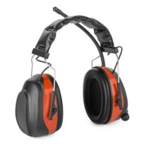 AUNA - Jackhammer 2.0 Casque radio antibruit SNR 28 dB Aux-In ABS/acier ? rouge