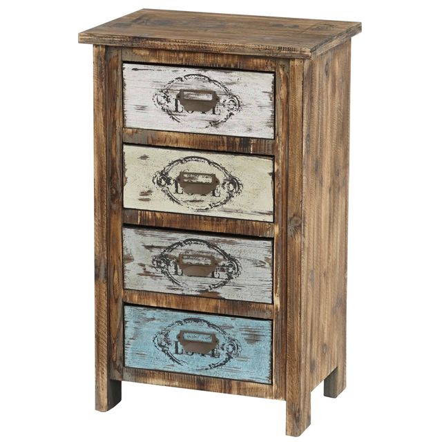 Mendler Commode Cadiz armoire table d'appoint, vintage, shabby chic, 79x48x33cm