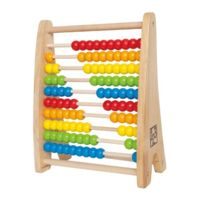Hape Preschool - 3602485 - Jeu Educatif Et Scientifique - Apprendre À Compter - Boulier Avec 10 RangÉES De 10 Perles En Bois - 2