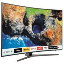 Samsung - LED 123cm-UHD 4K-PQI 1700-Supreme UHD Dimming DCI 90%HDR-Smart TV - Incurvé - Noir