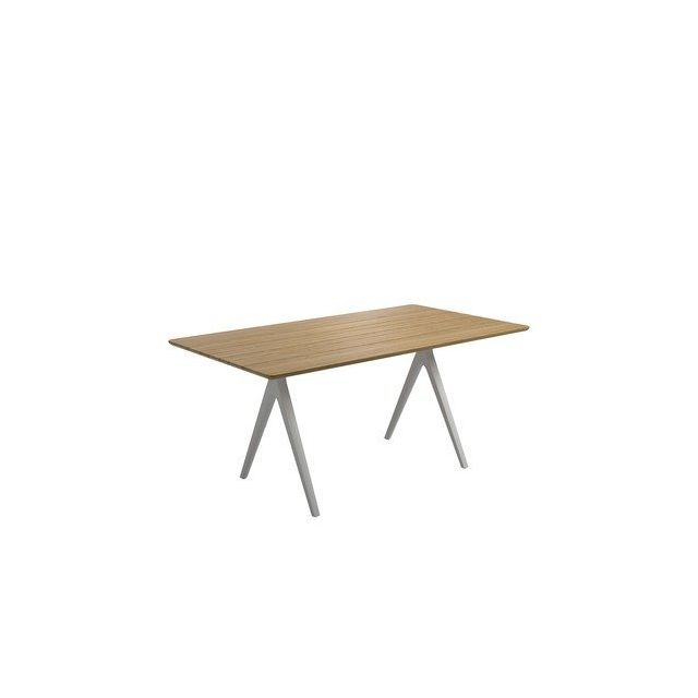 Gloster Table en teck Split - blanc - 220 x 100 cm